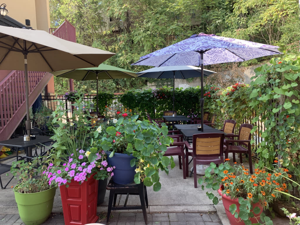 The idyllic patio seating option for when the weather is suitable.