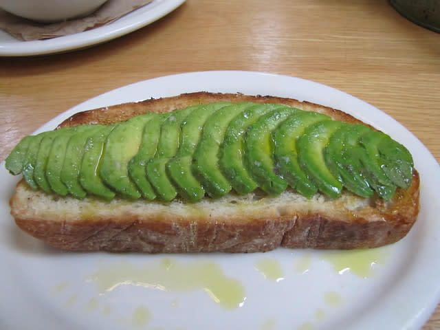 Open-Faced Avocado at Carmel Belle