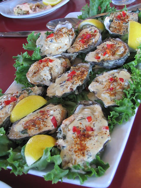 Roasted Pacific Oysters Big Fish Grill