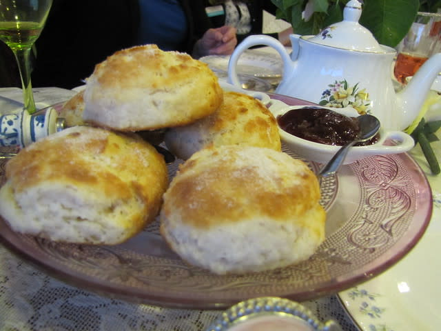 Fresh Scones at Eddison & Melrose Tea Room