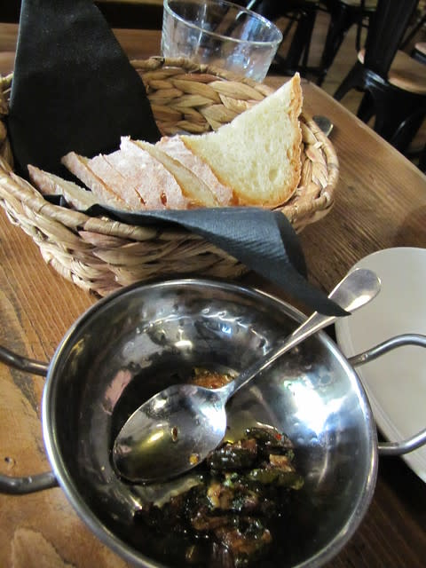 Fresh Bread and Marinated Zucchini at Il Tegamino