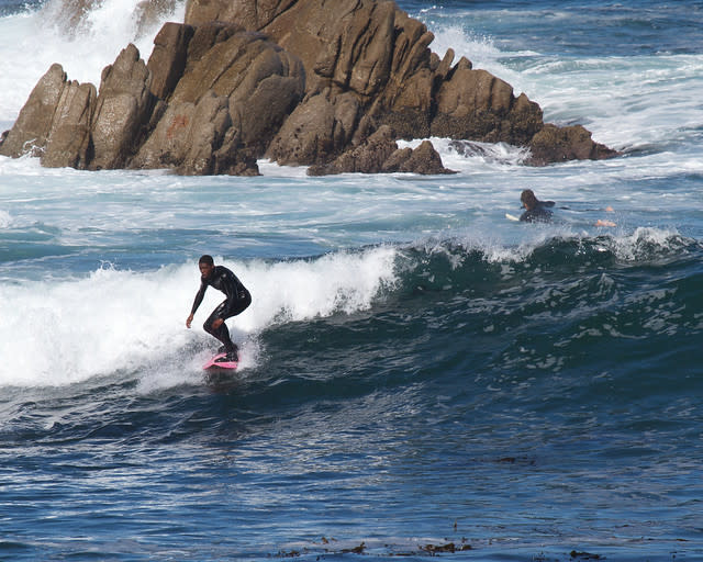 Surfing at Lover's Point