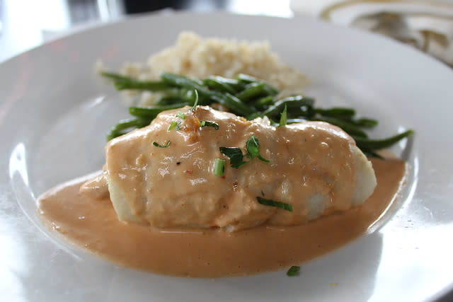 Crab Stuffed Whitefish at The Crab House