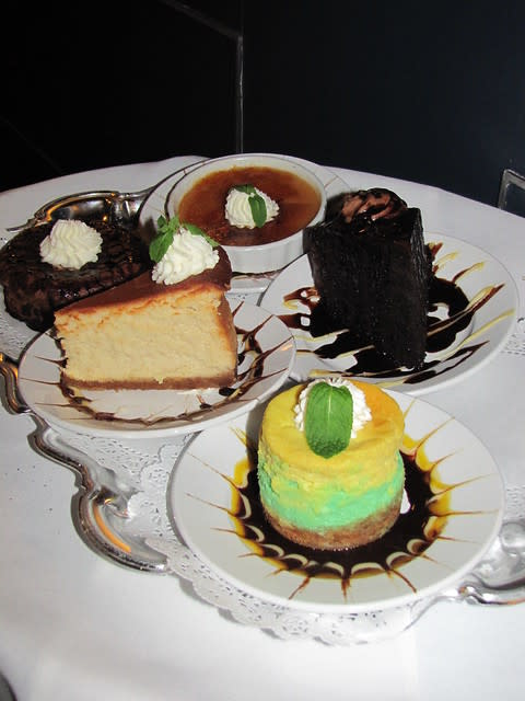 Desserts at Scales Seafood & Steaks
