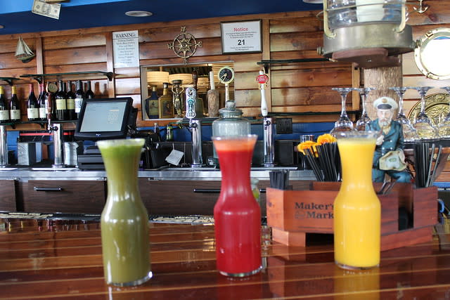 Fresh Juices at Bay of Pines