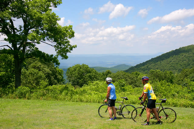 Biking in Virginia's Blue Ridge Mountains