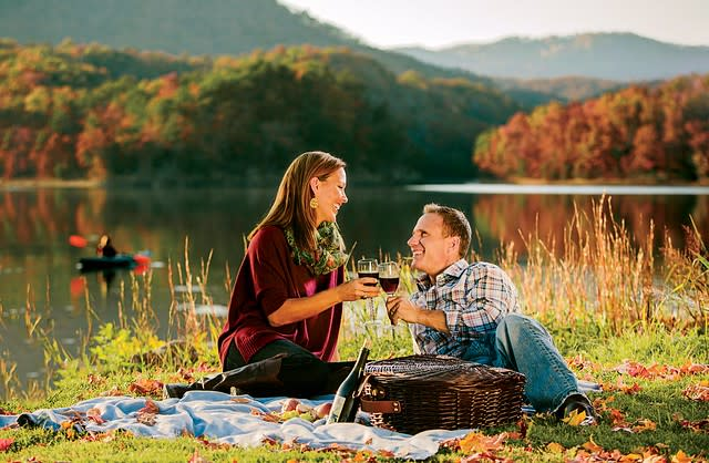 Romantic Picnic in Virginia's Blue Ridge