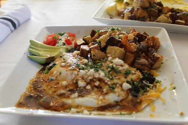 Huevos Rancheros at Crema in Pacific Grove