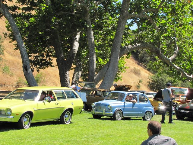 Cars line up to accept awards at Concours d'Lemons