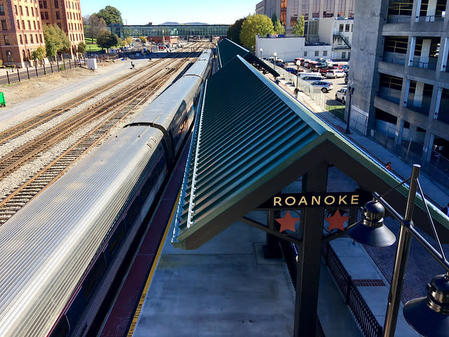 Amtrak Train Platform - Downtown Roanoke