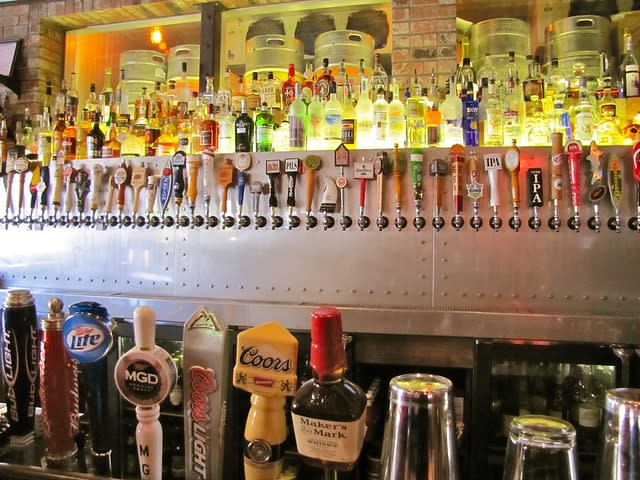 Beer taps at Cannery Row Brewing Co.