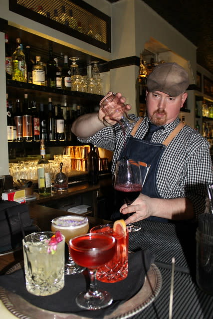 Bartender Josh Perry at Restaurant 1833