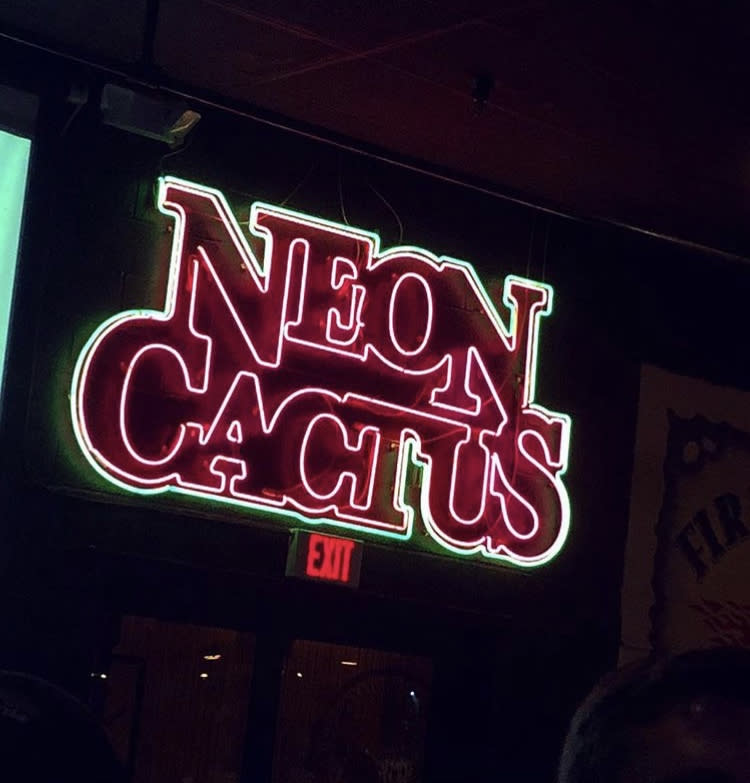 neon cactus front sign