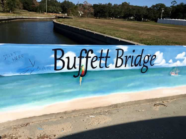 Jimmy Buffett bridge in Pascagoula