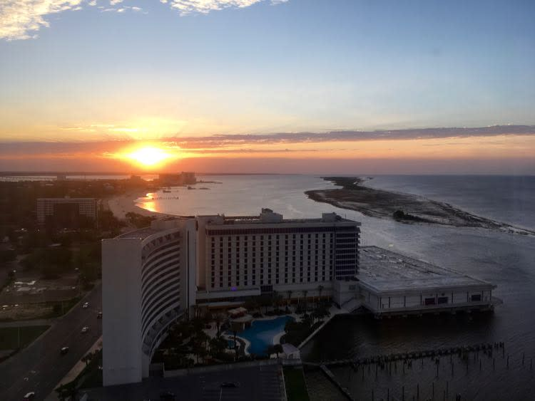 Coastal Mississippi sunrise from Beau Rivage