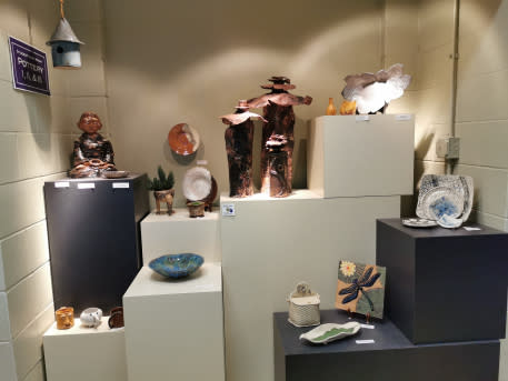Pottery by students and artists