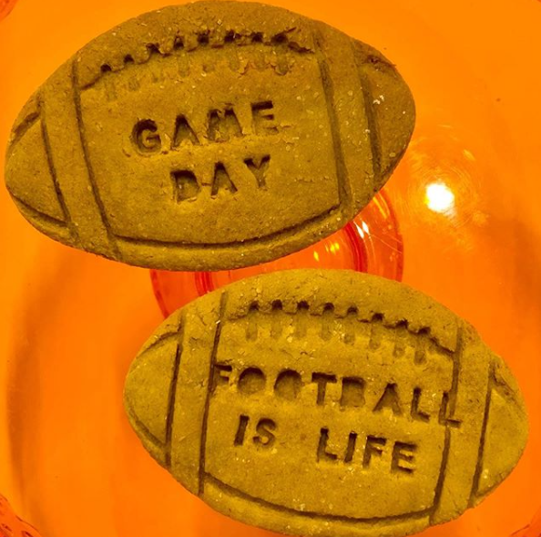 Cookies Shaped Like Footballs Saying Game Day And Football Is Life