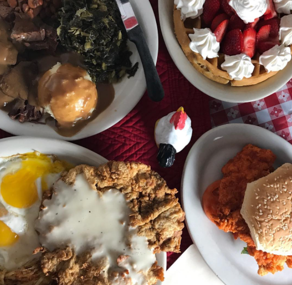 Mama's Daughter's Diner offers up southern classics like chicken fried-steak, turnip greens and cream gravy.