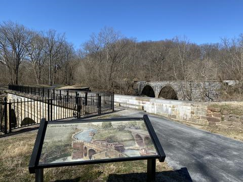Information sign about the C&O Canal