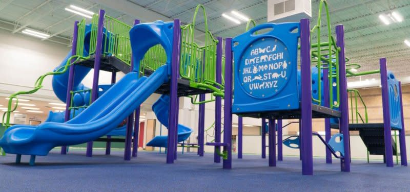 An indoor jungle gym at Playground Plaza in Maple Grove, MN