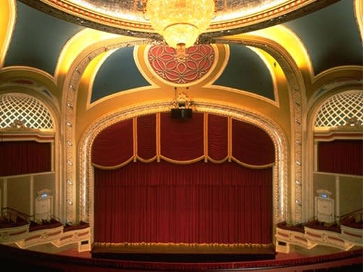 View from the balcony of the Orpheum Theatre in Minneapolis, MN