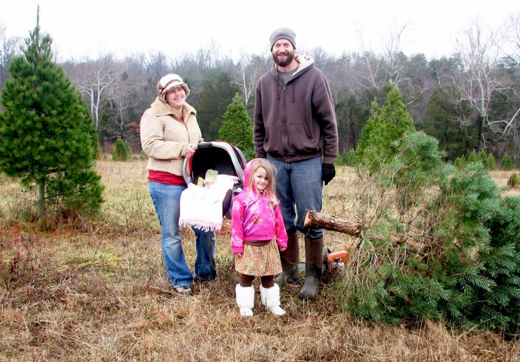Parrs Christmas tree cutting