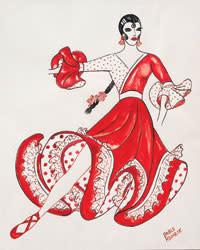 FLAMENCO Rodarte Costume Sketch