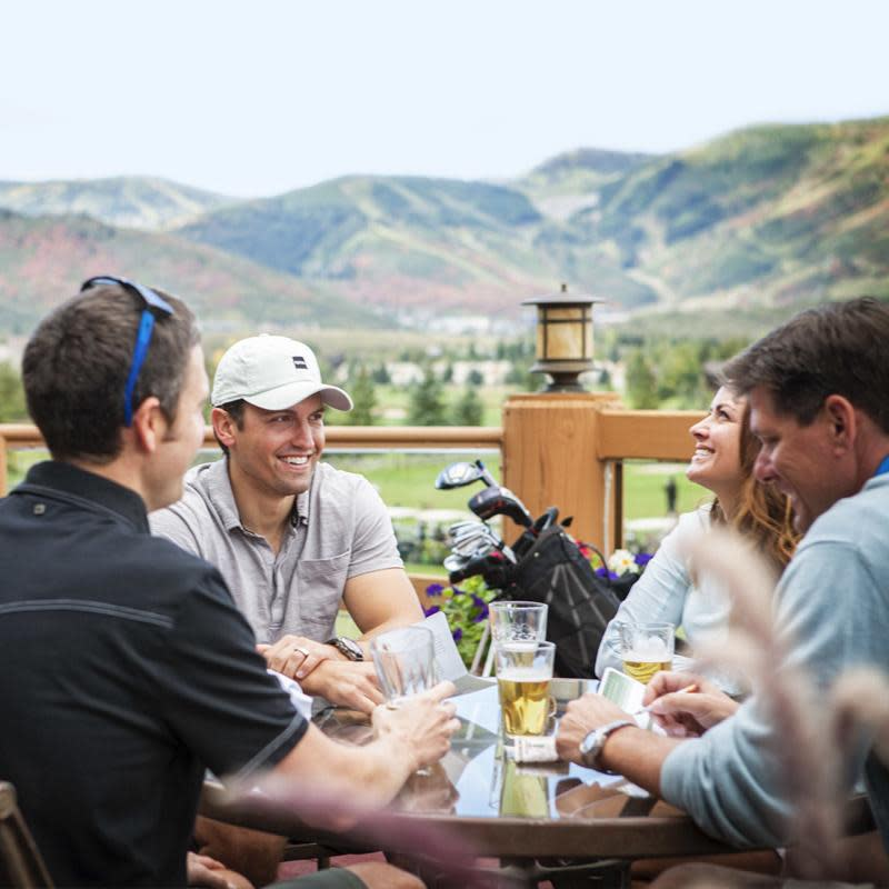 Foursome at the 19th hole at a Park City golf course