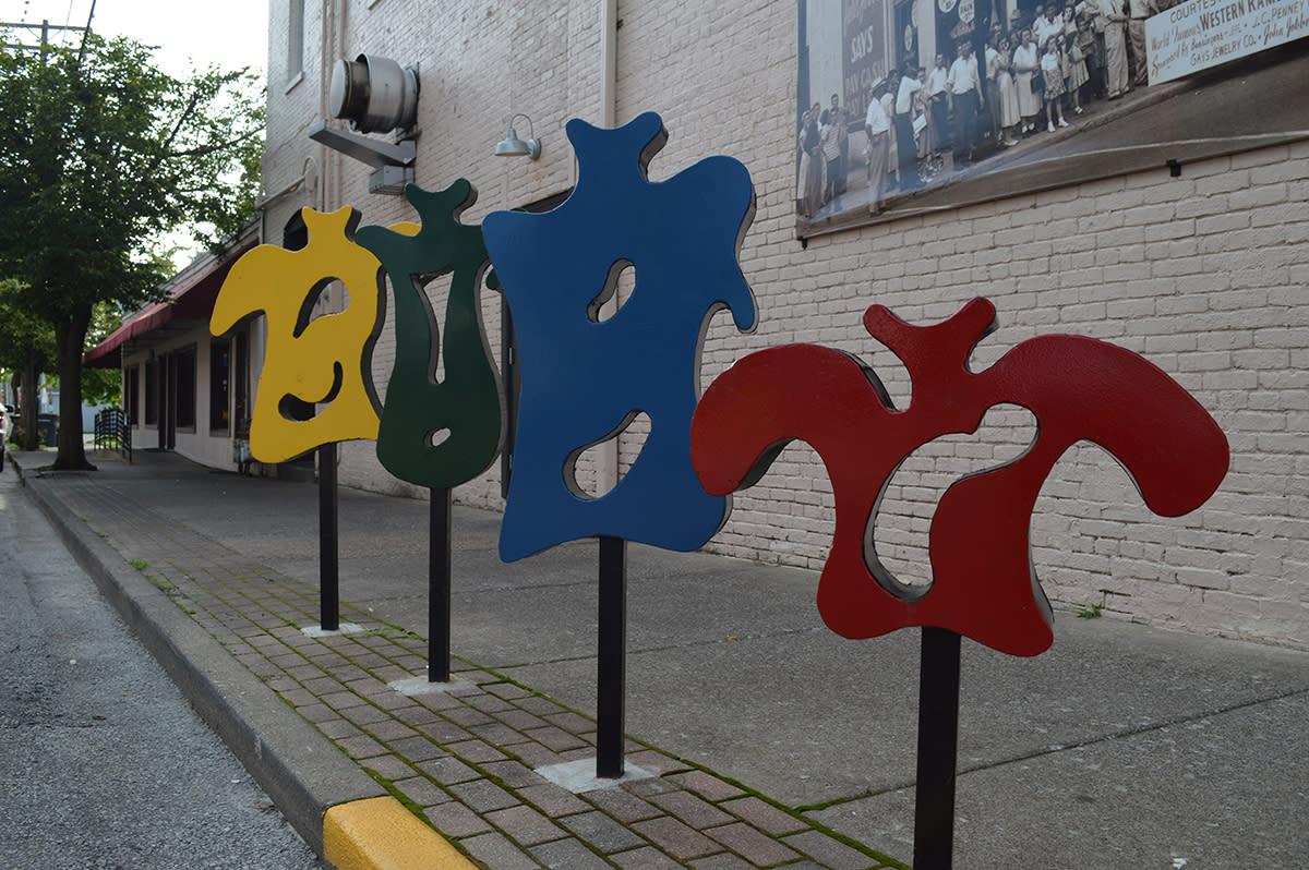 Jeffersonville Public Art bike rack
