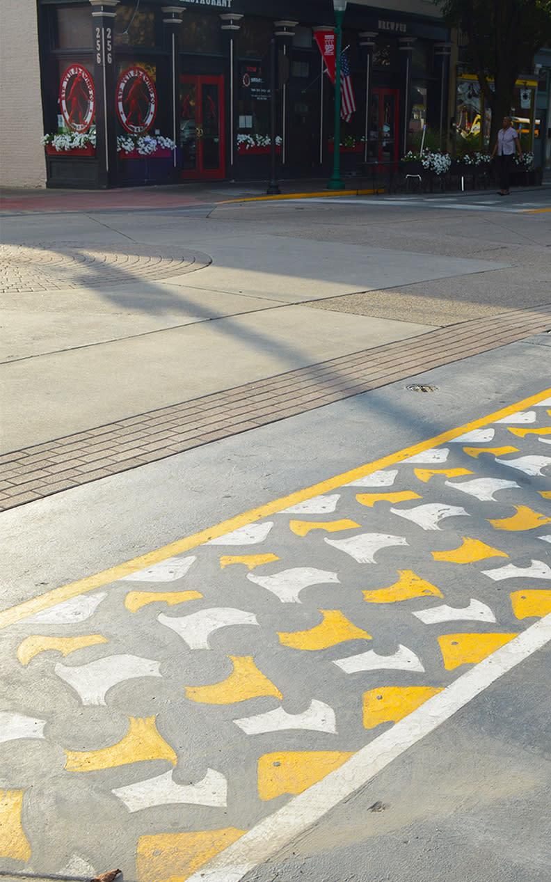 Jeffersonville Public Art sidewalk4
