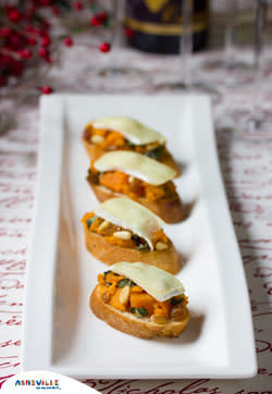 Sweet Potato and Brie Bruschetta #Recipe | ExploreAsheville.com