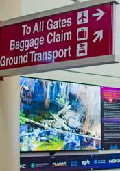 4K Screen Inside Airport Atrium