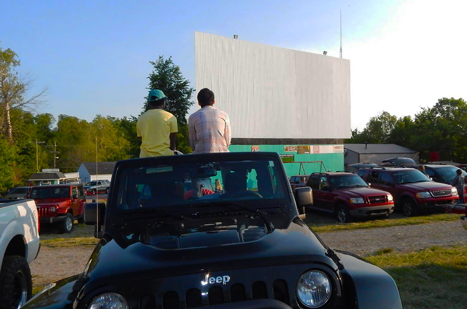 Georgetown Drive-in jeep screen