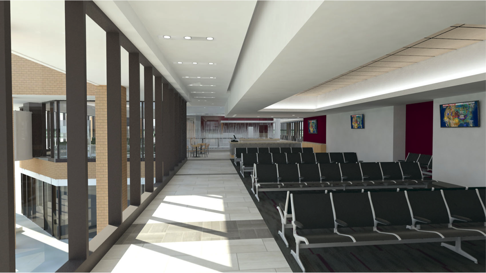 New Holding Area at Easterwood Airport