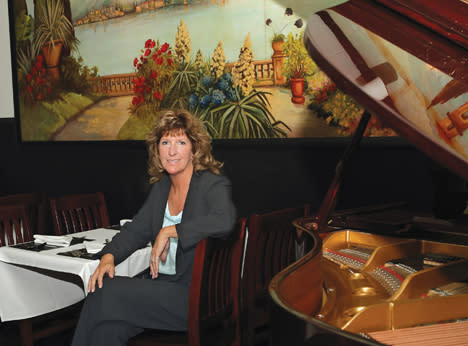 Michaels Restaurant - Mural and Baby Grand Piano