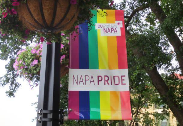 Napa Pride flag LGBTQ
