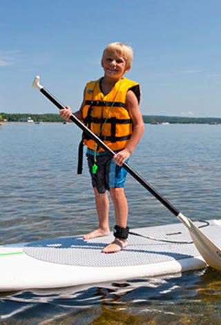 Paddleboarding in Cayuga County