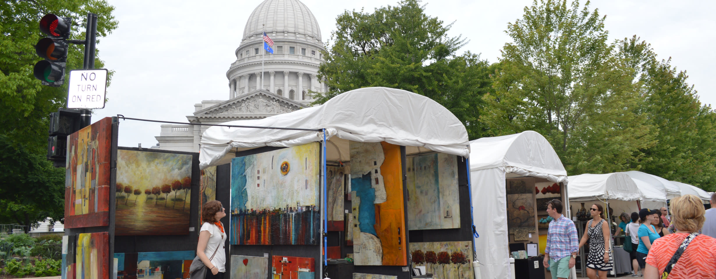 Art Fair on the Square: Capitol Square, Madison