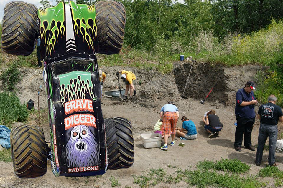 Monster Truck Grave Digger at Canadian Fossil Discovery Centre in Manitoba