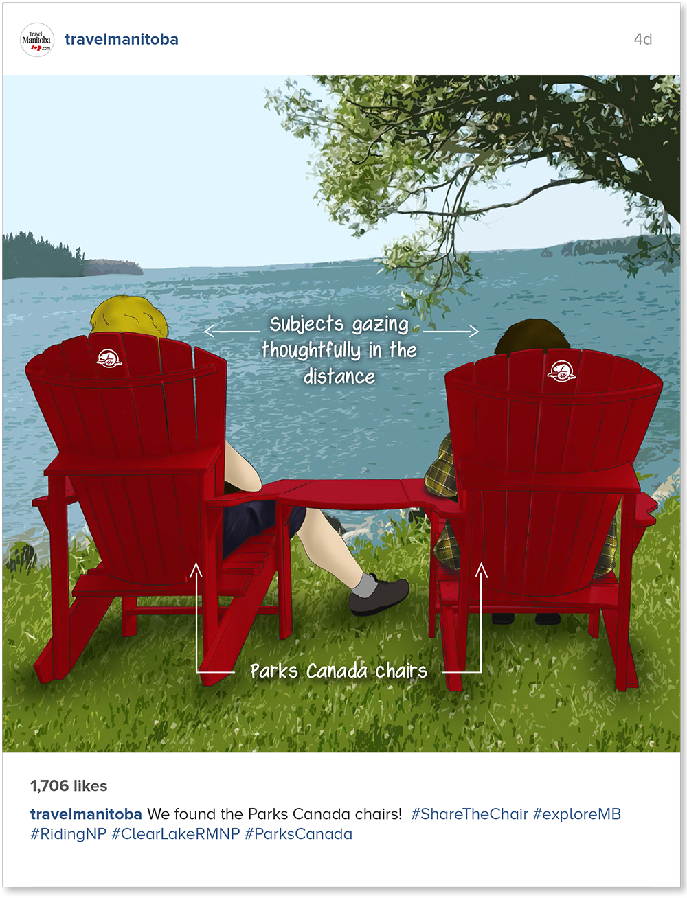 Share the Chair with Parks Canada's Red Chairs