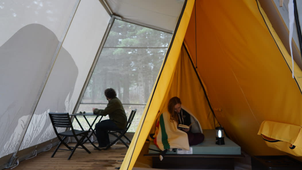 Double Tent in Riding Mountain National Park