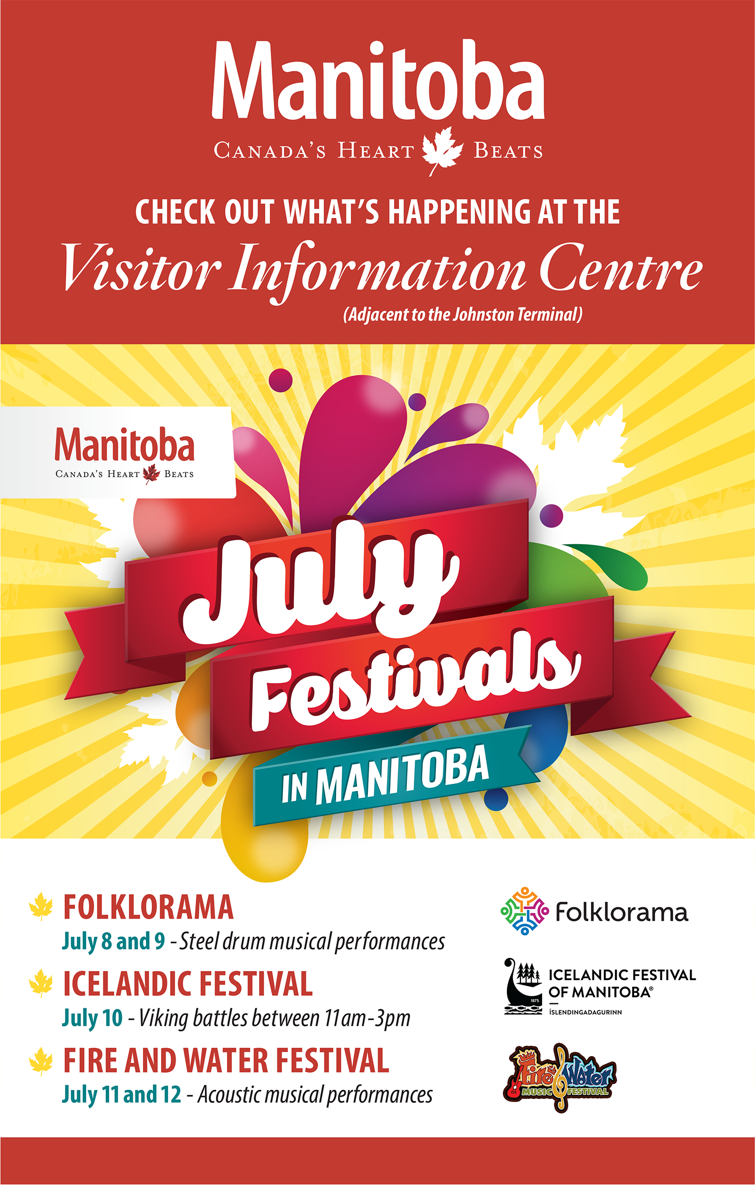 Events in the Visitor Information Centre at The Forks