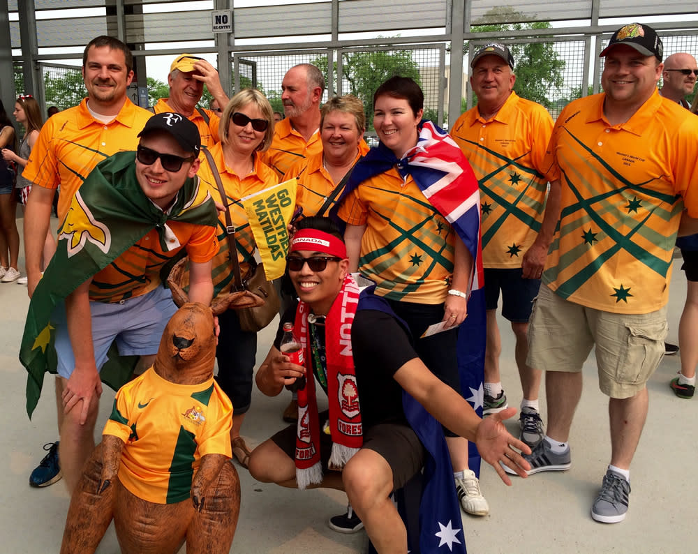 The Aussies come out in full force at FIFA Women's World Cup Canada.