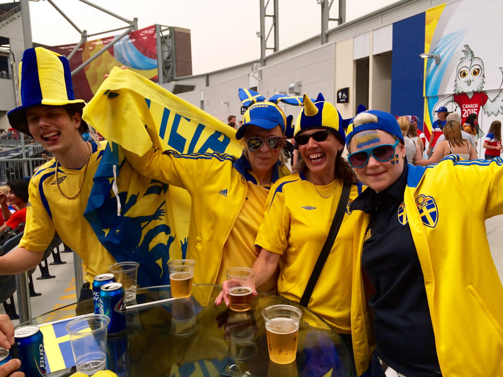 The Swedes come out in full force at FIFA Women's World Cup Canada.