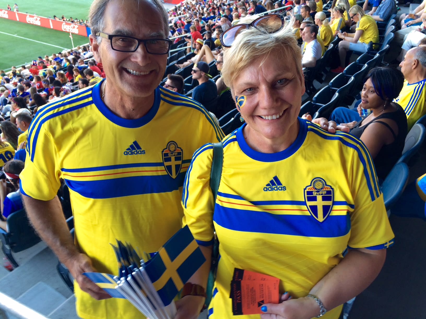 Sweden fans at FIFA Women's World Cup.