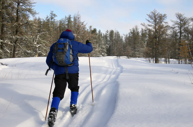Skiing the Whiteshell with Hike Bike Travel
