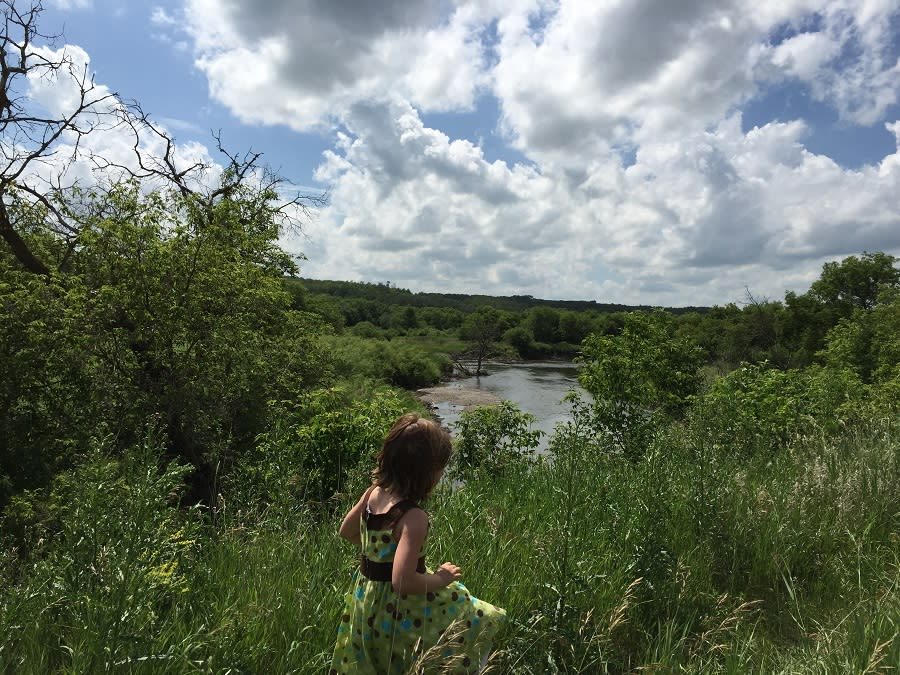 walking trails at River's Edge Park in Minnedosa