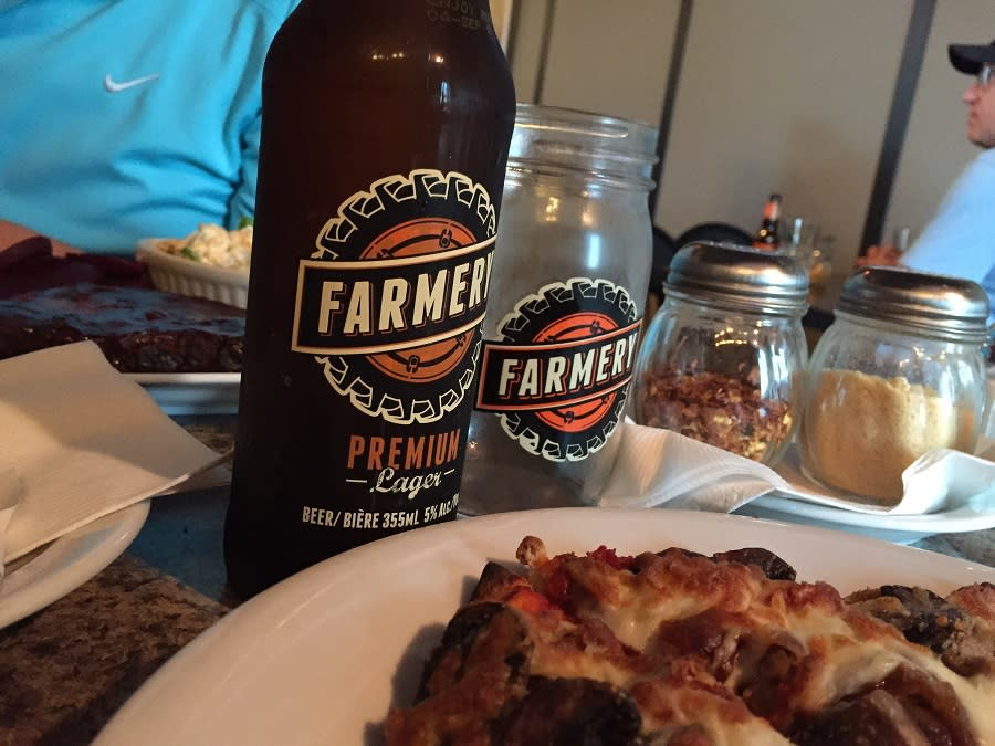 Farmery Beer at the Cornerstone Grill in Minnedosa