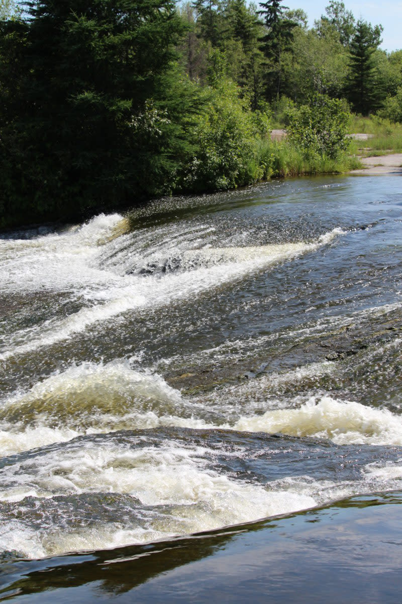 Top of the rapids at the old Pinawa Dam.