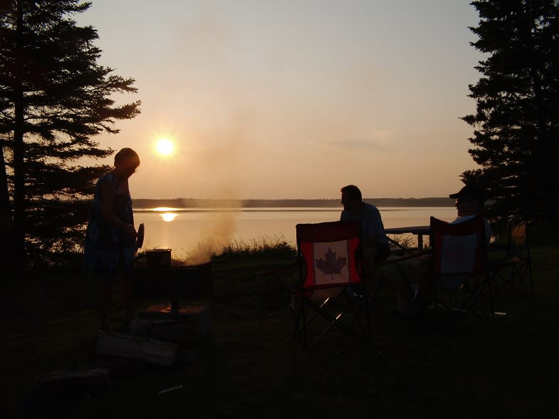 Camping at Lake Audy in Riding Mountain National Park